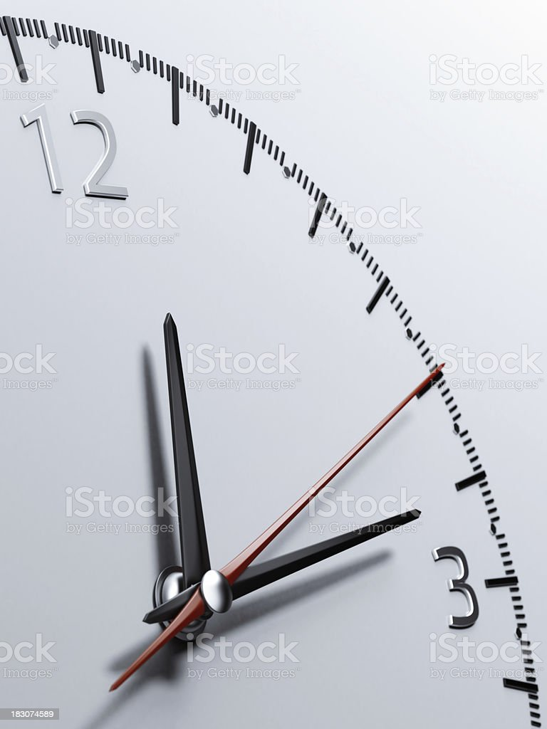 Close up of a watch royalty-free stock photo