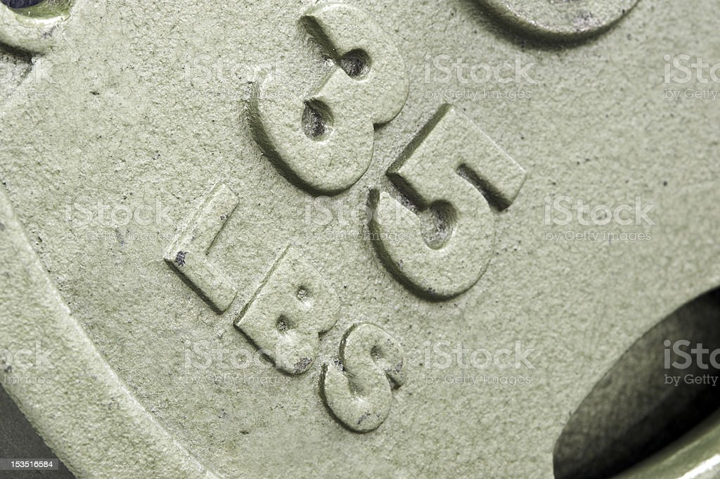 Close up of a weight in the gym stock photo