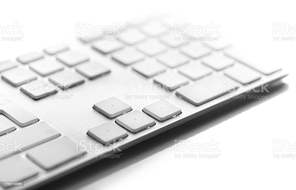 close up of a white computer keyboard royalty-free stock photo