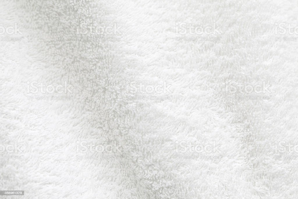 A close up of a white cotton towel stock photo