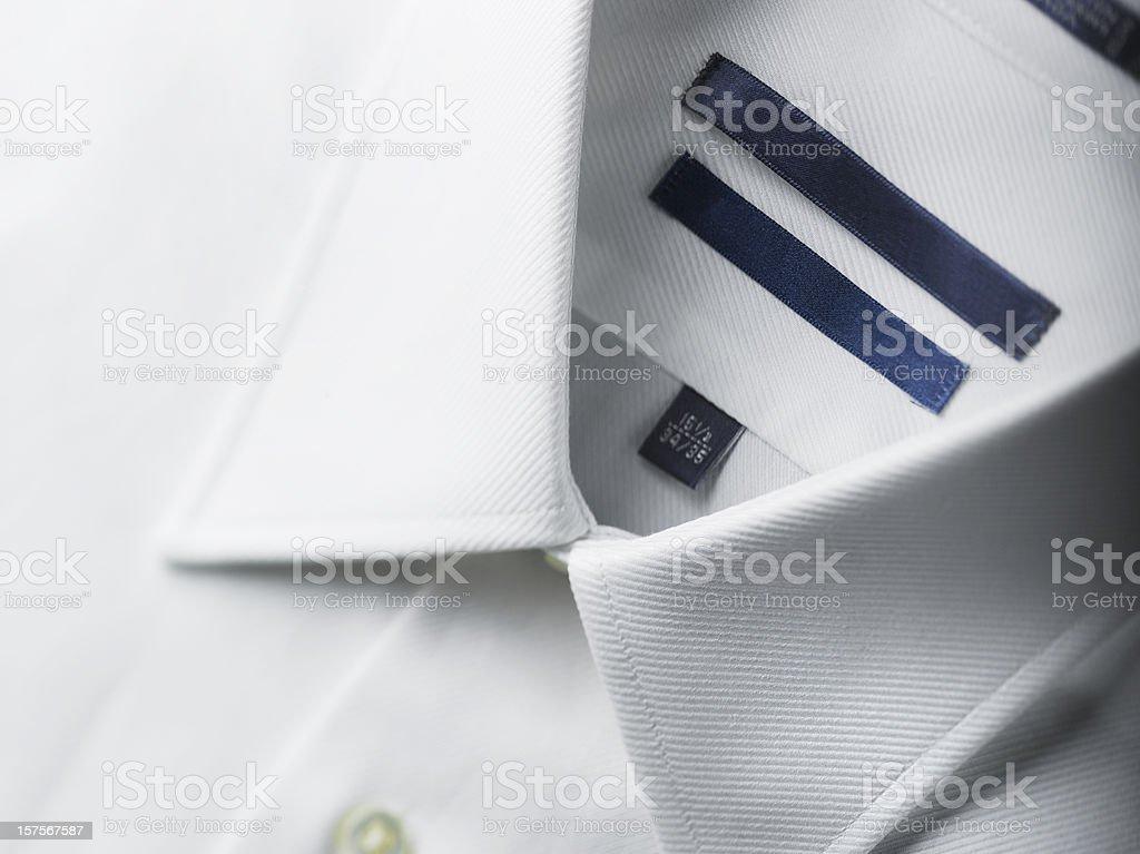 Close up of a white mens shirts royalty-free stock photo
