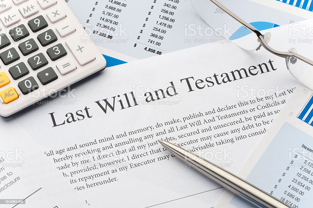 Close up of a Will stock photo