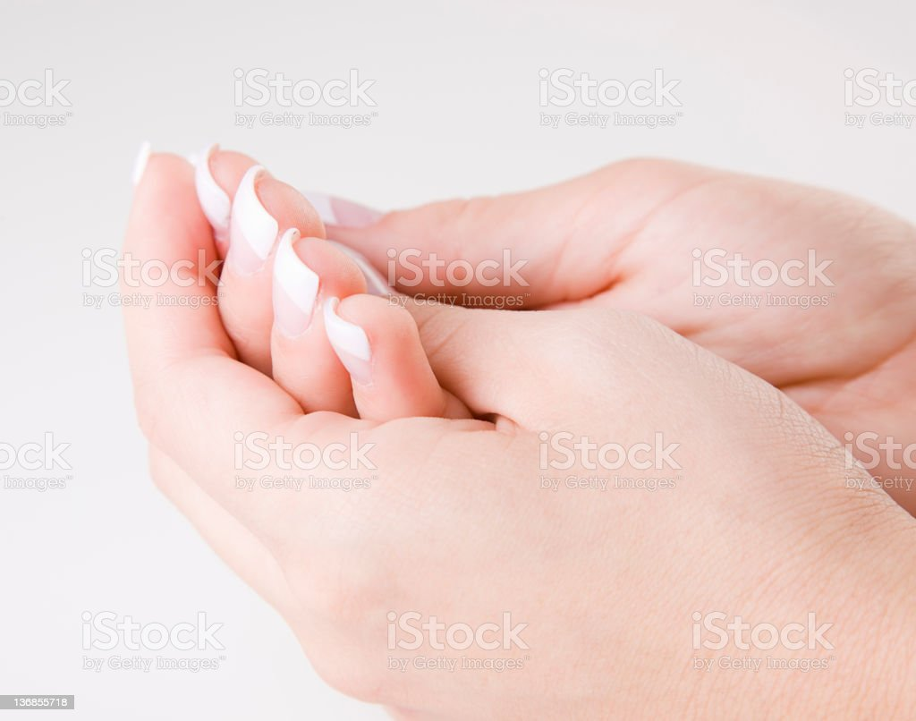 Close Up of a Woman's Hand royalty-free stock photo