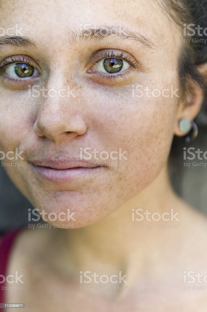 close up of a young woman royalty-free stock photo