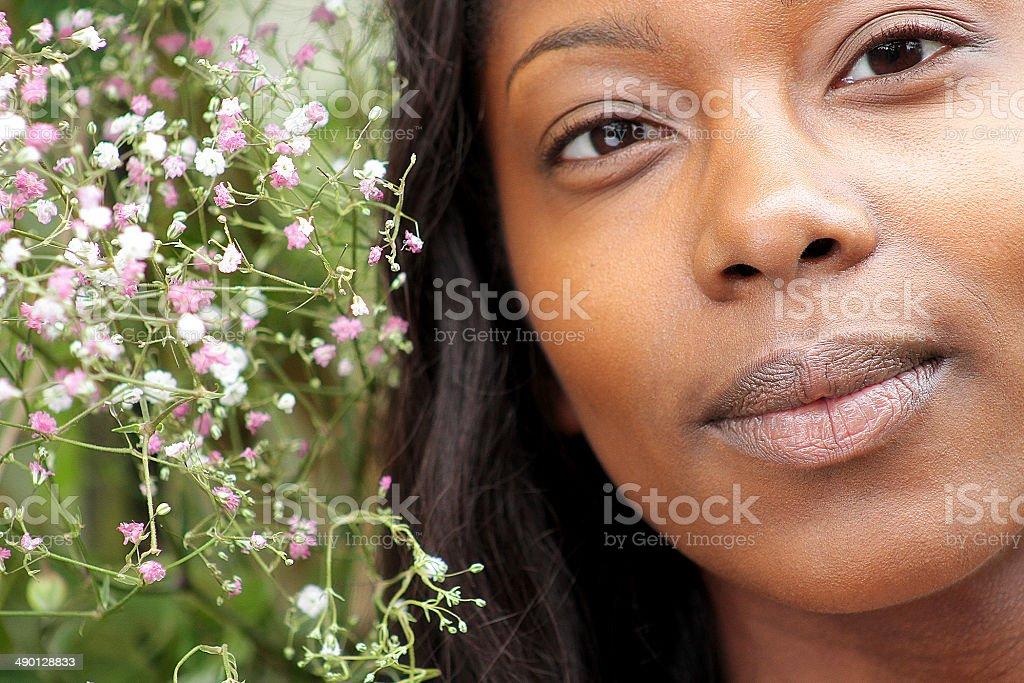 Primo piano di una donna giovane foto stock royalty-free