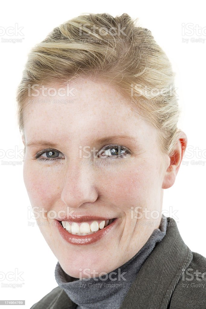 Close up of a young woman smiling royalty-free stock photo