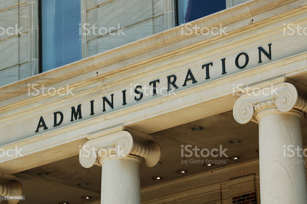 Close up of administration building royalty-free stock photo