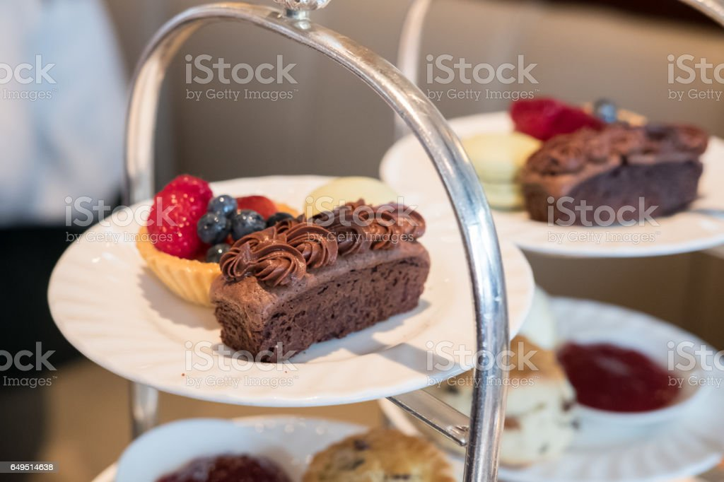 Close up of Afternoon Tea Set. stock photo