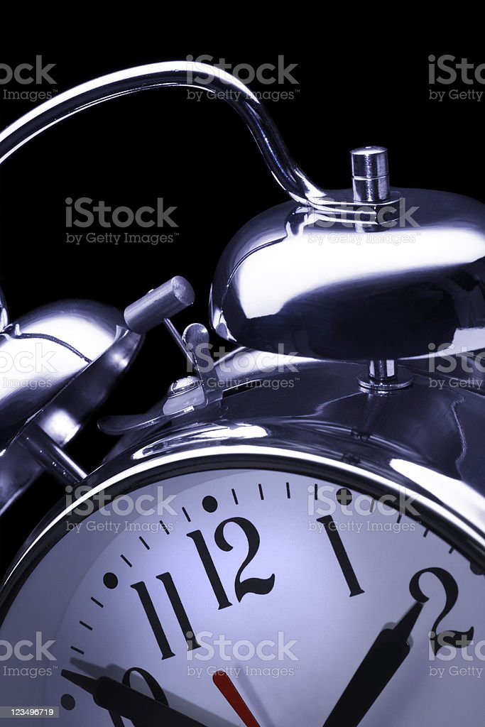 close up of alarm clock royalty-free stock photo