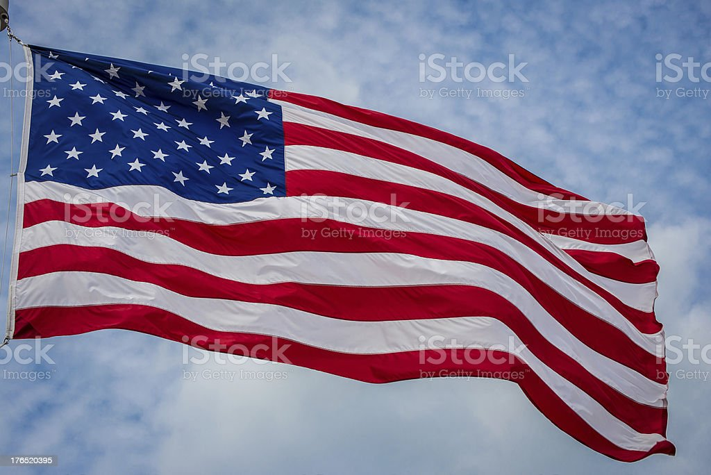 Close up of American Flag royalty-free stock photo