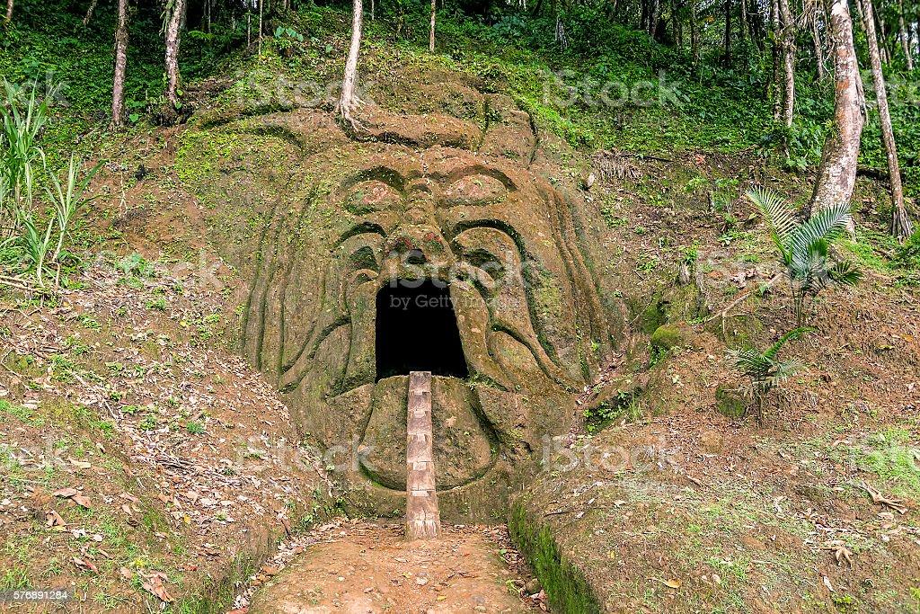 Close Up Of An Ancient Pre Columbian Inca Temple stock photo
