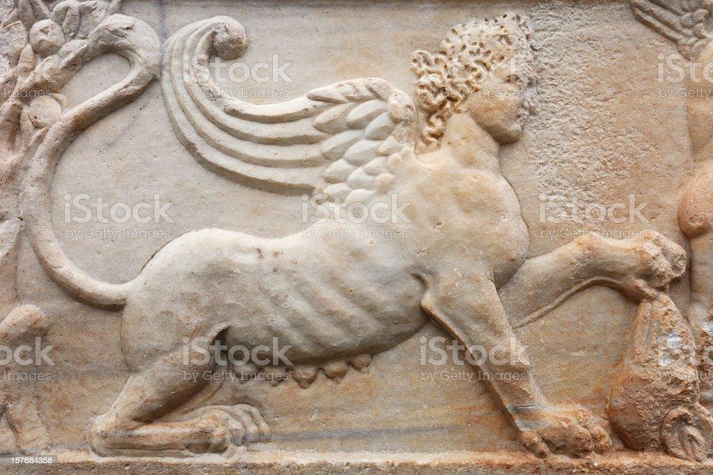 Close Up Of An Ancient Sarcophagus stock photo