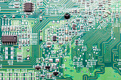 Close up of an electric circuit board