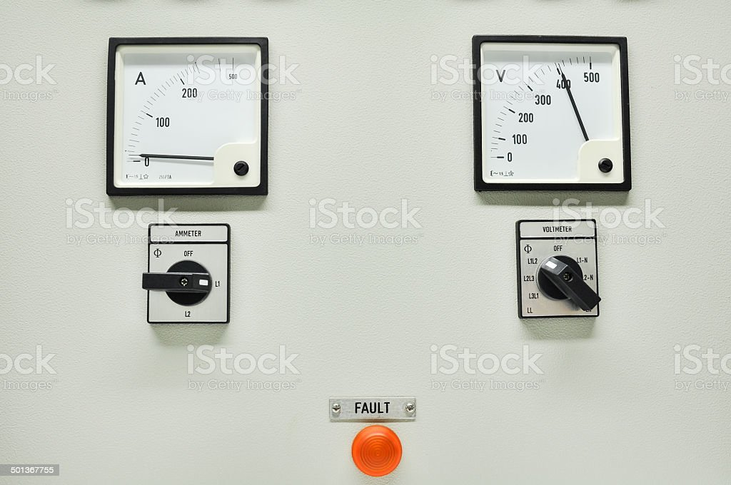 Close up of an Electric meter royalty-free stock photo
