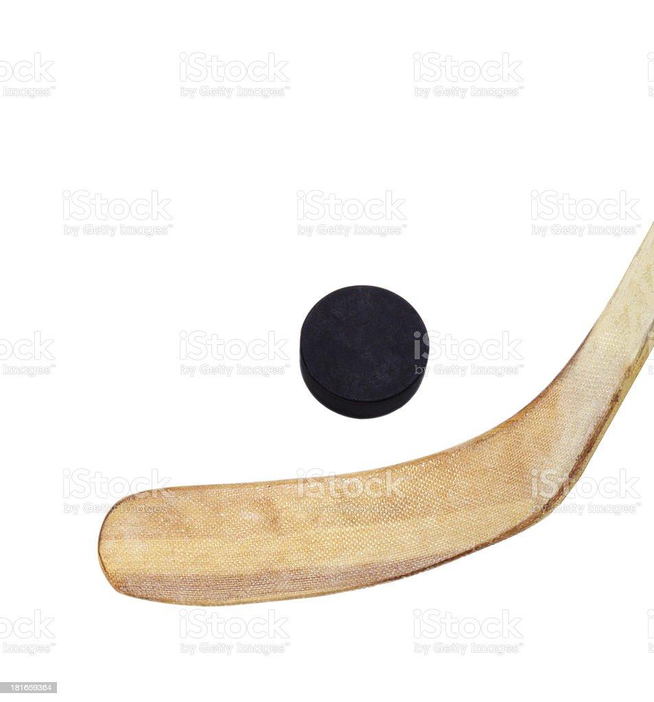 close up of an ice hockey stick royalty-free stock photo
