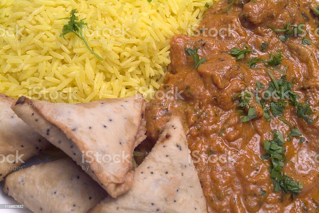 Close up of an Indian Takeaway stock photo