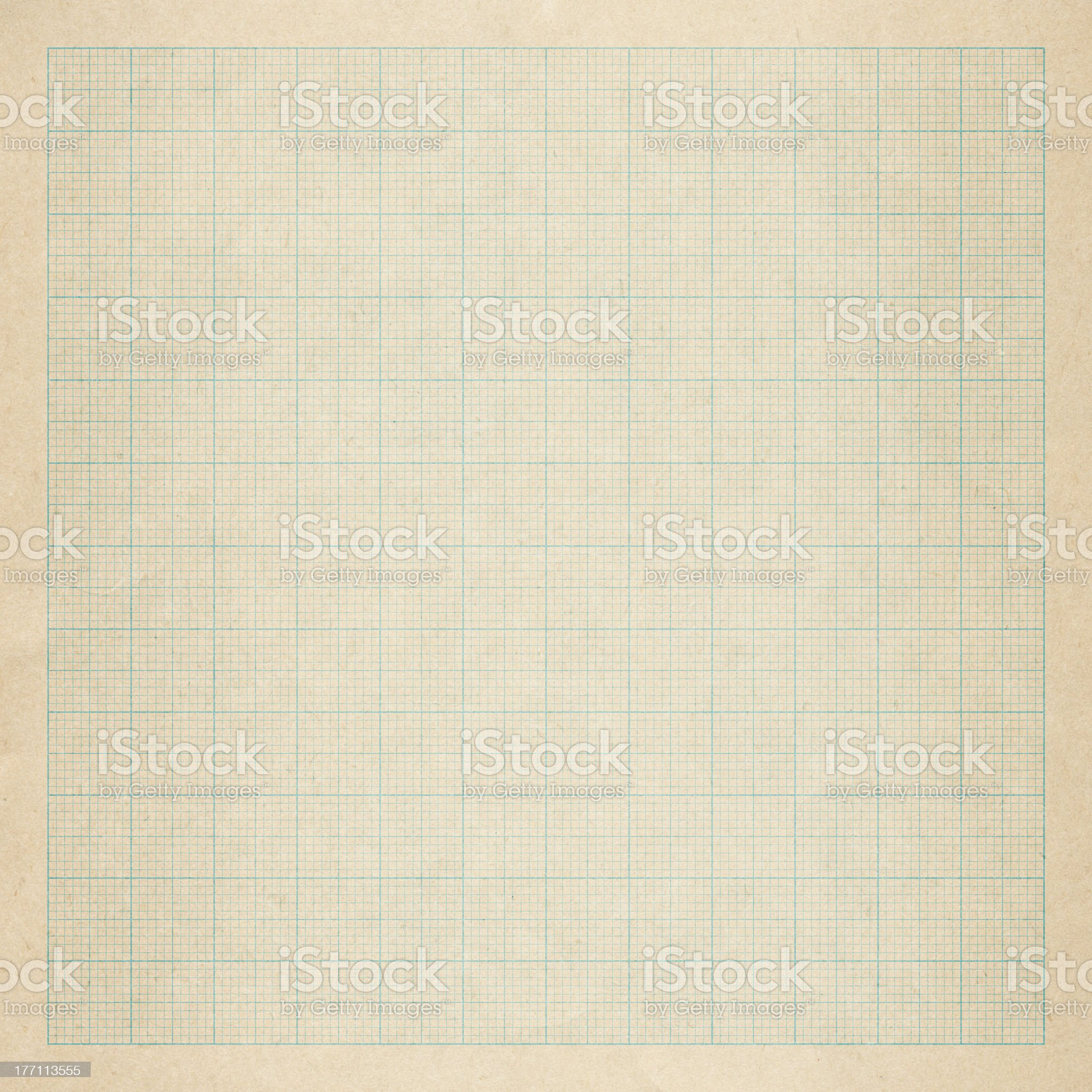 Close up of an old graph paper royalty-free stock photo