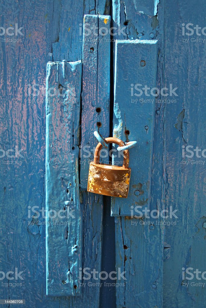 close up of an old lock royalty-free stock photo