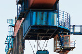 Close up of an overhead crane  operation cabinet