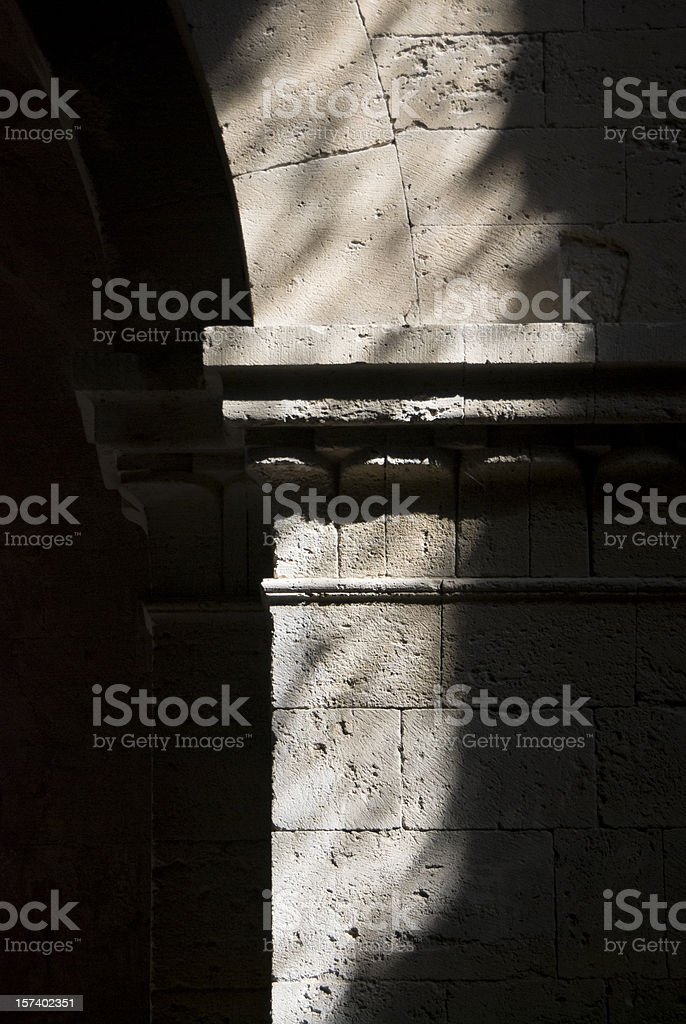close up of ancient stone column royalty-free stock photo