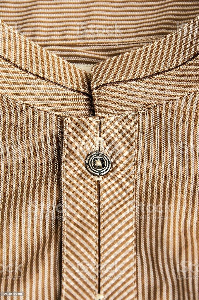 Close up of asian shirt (Kurta) stock photo