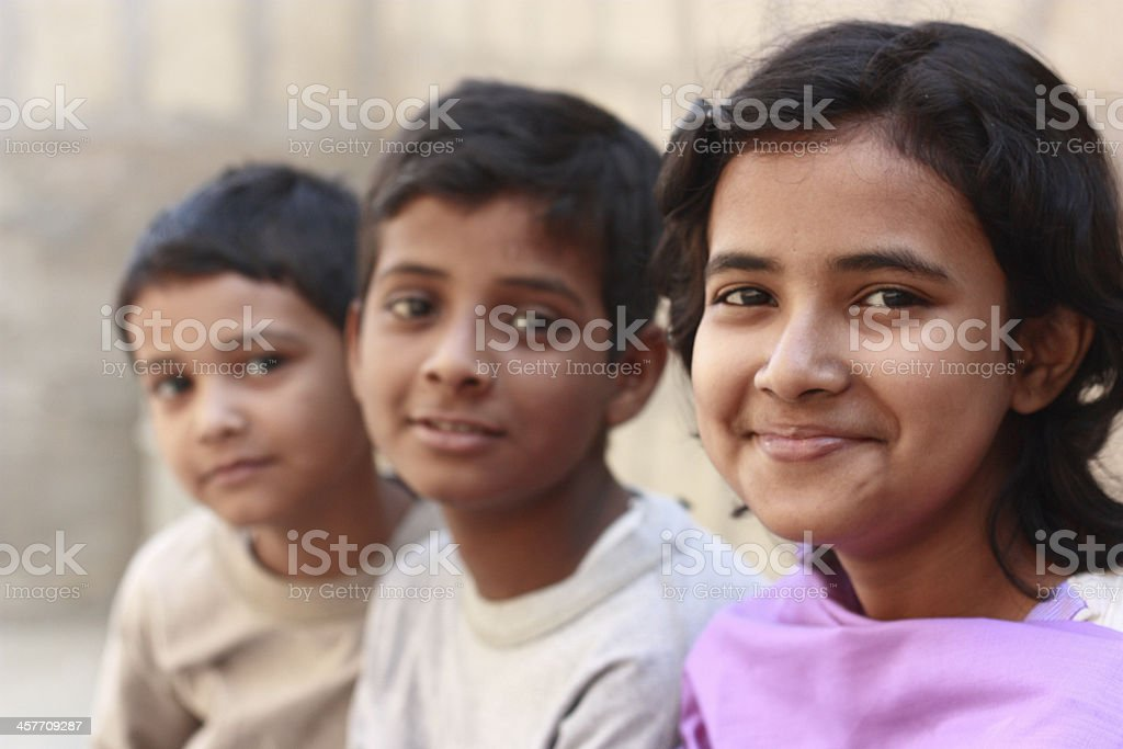 Close up of Asian siblings royalty-free stock photo