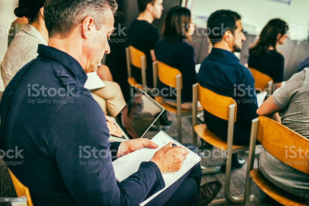 Close up of audience stock photo