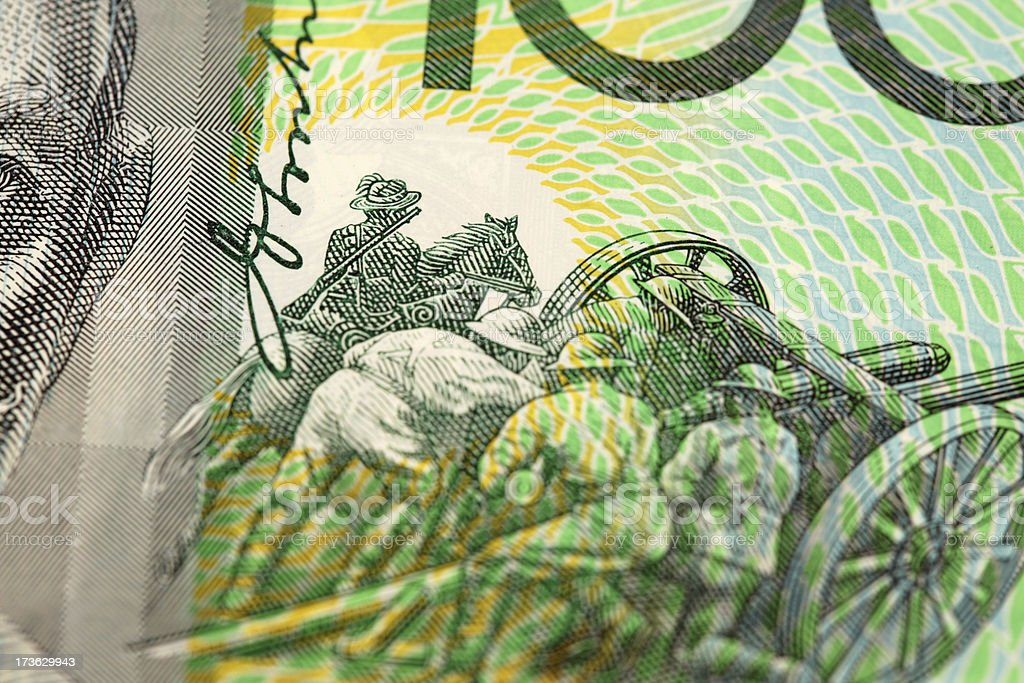 Close up of Aussie Money royalty-free stock photo