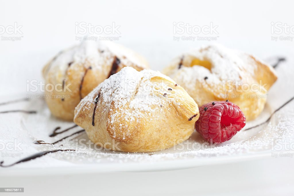 close up of austrian sweet snack stock photo