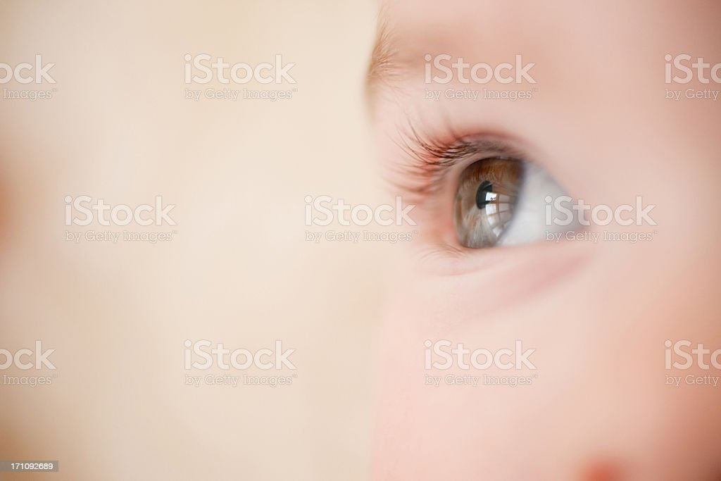 Close up of baby's eye stock photo