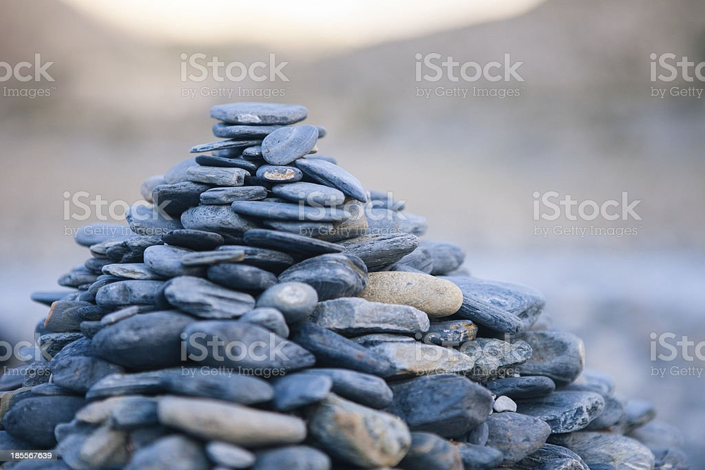 Close up of balanced stones. royalty-free stock photo