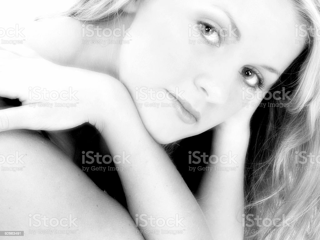 Close Up of Beautiful 17 Year Old Teen royalty-free stock photo