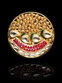 Close up of beautiful Diamond Ring , many precious Gemstone