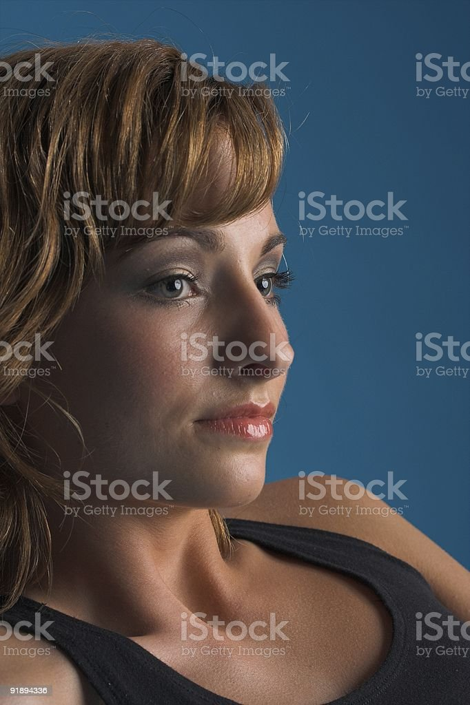 Close up of beautiful face royalty-free stock photo