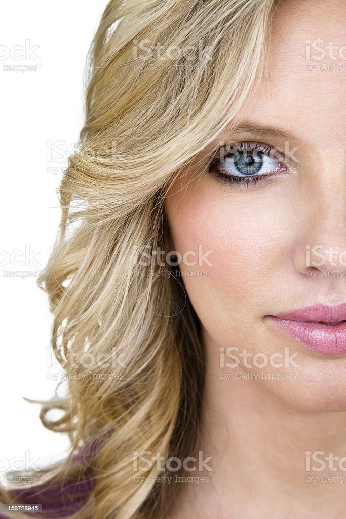 Close up of beautiful woman stock photo