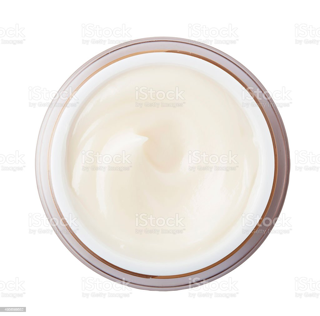 Close up of beauty cream on background with clipping path stock photo