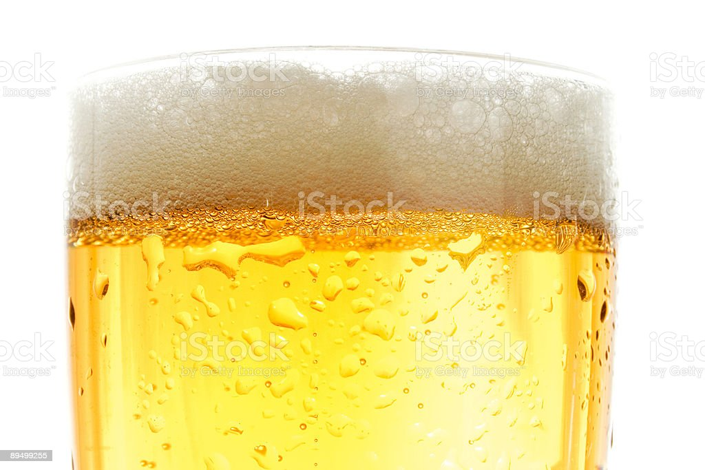 Close up of beer pint stock photo