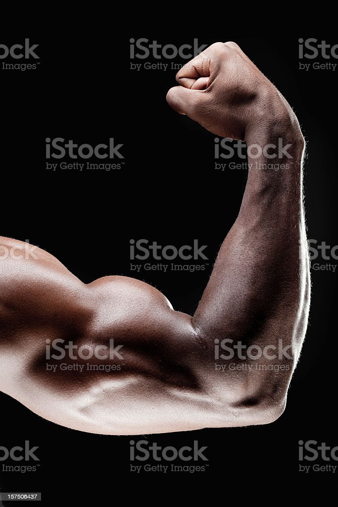 Close up of bicep stock photo