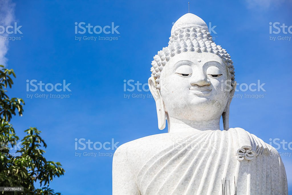 Close up of Big Buddha on Phuket in Thailand stock photo