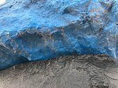 Close Up of Black and Blue Painted Boulders