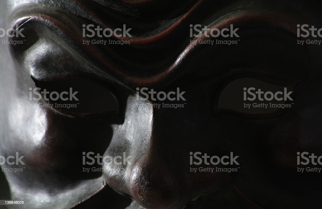 Close up of black carnival mask stock photo