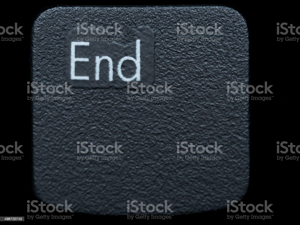 Close up of Black END Key stock photo