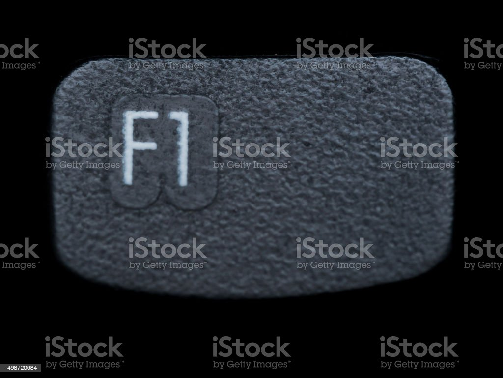 Close up of Black F1 Function Key stock photo