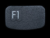 Close up of Black F1 Function Key