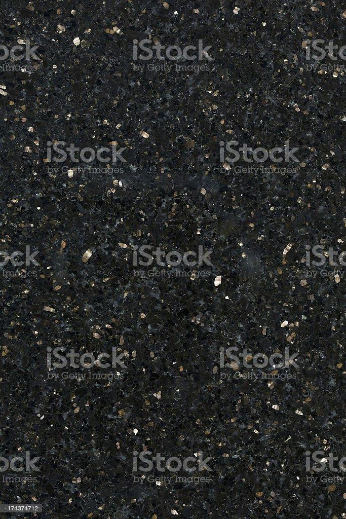 Close up of black galaxy granite building material stock photo