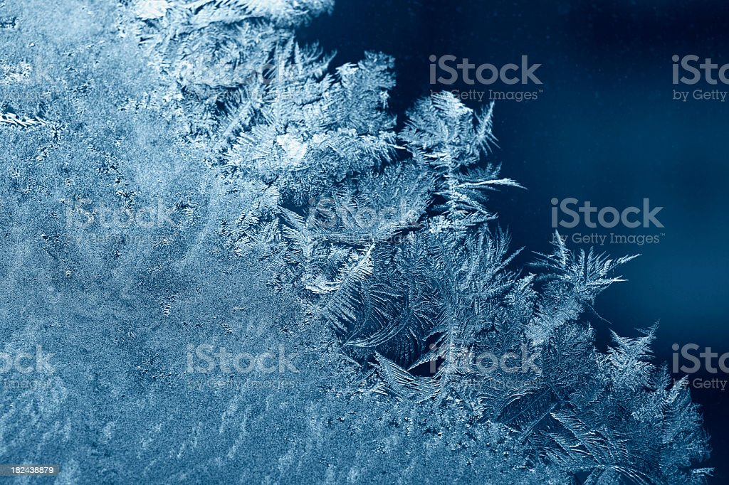 Close up of blue ice crystals  royalty-free stock photo