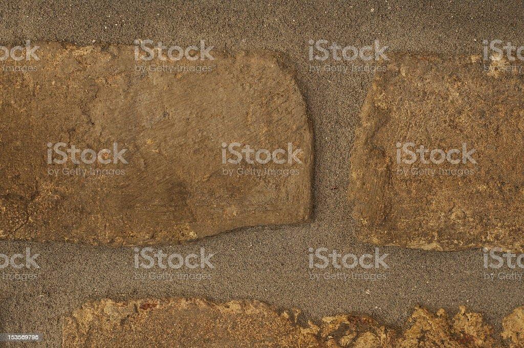 Close up  of bricks in wall royalty-free stock photo
