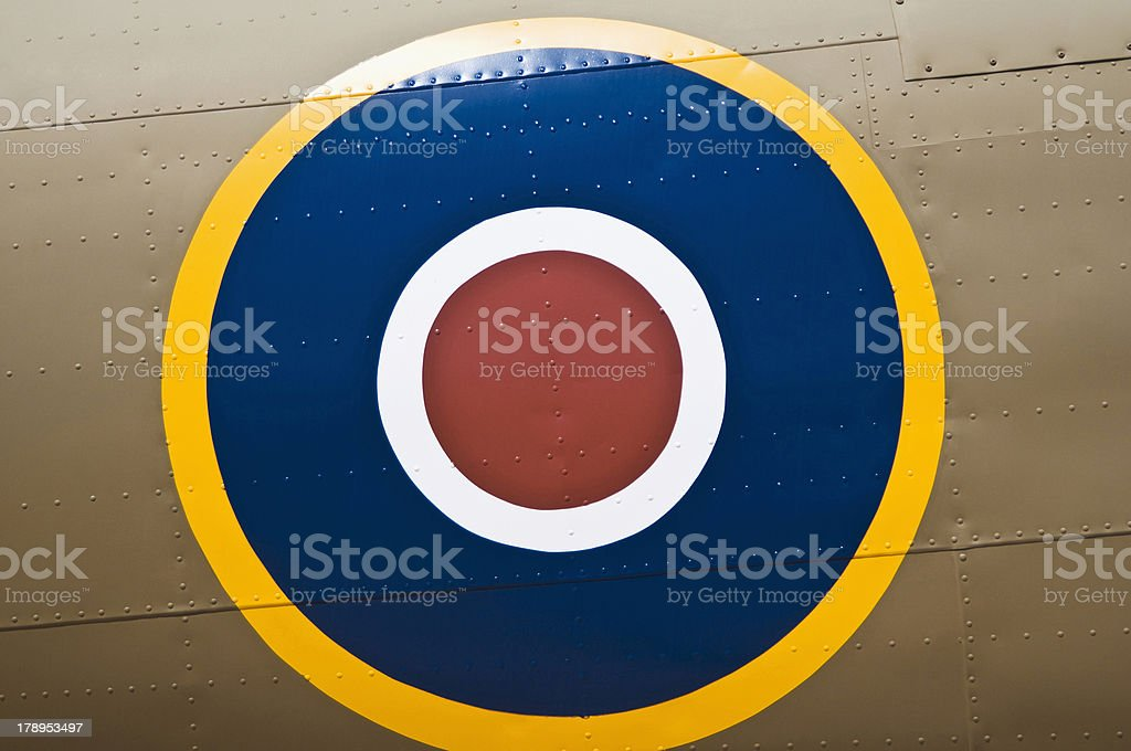close up of british airforce symbol royalty-free stock photo