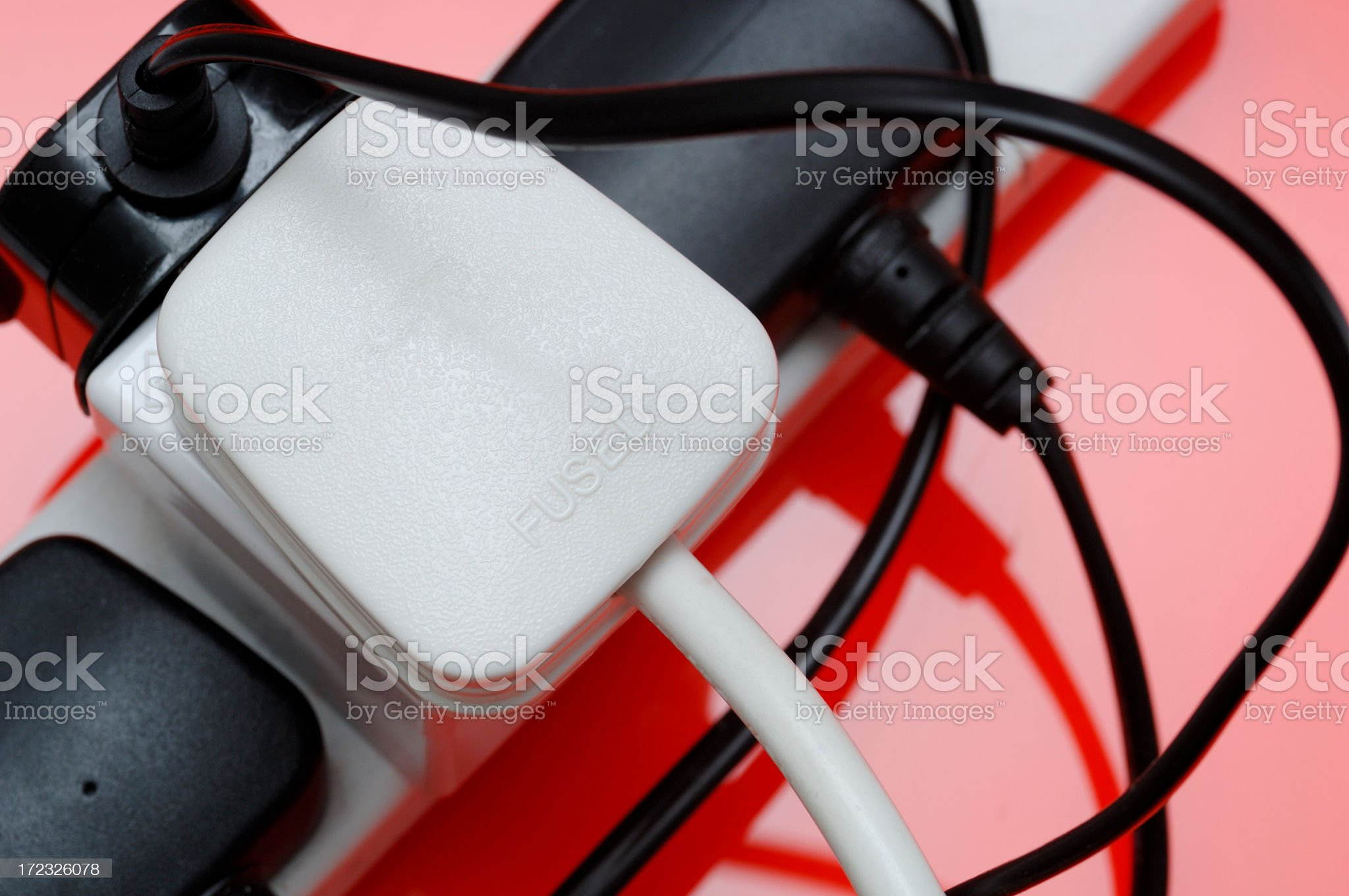 Close up of british power plugs and sockets royalty-free stock photo