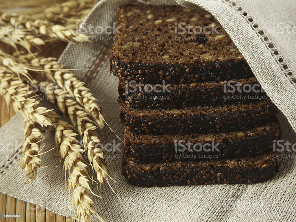 close up of brown bread royalty-free stock photo